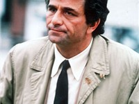 Falk as the bumbling but perceptive detective in Columbo.