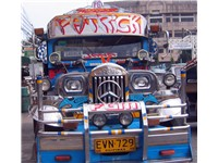 Jeepneys were originally made from U.S. military jeeps left over from World War II.