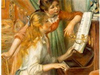 Girls at the Piano, 1892, by Pierre-Auguste Renoir, Mus e d'Orsay, Paris.
