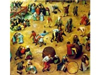 A detail of Children's Games (1560)