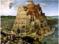 The Tower of Babel (1563) oil on board