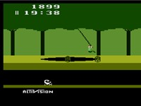 Screenshot of Pitfall! for the Atari 2600.