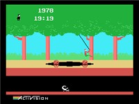 Screenshot of Pitfall! on the ColecoVision.