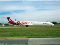 An PLUNA Bombardier CRJ900 taxiing at Aeroparque Jorge Newbery, Argentina. (2008)