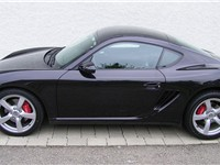 Side view of the Porsche Cayman S