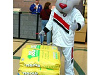Blaze the Trail Cat, the Trail Blazers mascot.