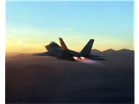 F-22 showing F119 engines in afterburner