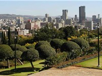 The central area of Pretoria viewed from the Union Buildings.