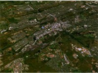 Satellite image of Pretoria.