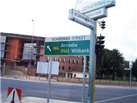 Streetsigns in Pretoria