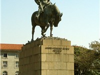 Statue of Andries Wilhelmus Jacobus Pretorius (November 27, 1798 -- 23 July 1853) in Pretoria
