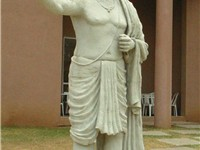 Statue of Aryabhata on the grounds of IUCAA, Pune. As there is no known information regarding his ap