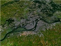 Satellite view of P'yo ngyang.