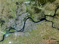 Pyongyang seen from Spot Satellite