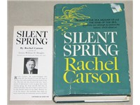 The Book-of-the-Month Club edition of Silent Spring, including an endorsement by William O. Douglas,