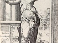 Lucretia, engraved by Raimondi after a drawing by Raphael.