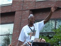 Allen at the championship parade of the 2008 NBA Champions Boston Celtics.