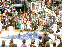 Allen dunks in Game 4 of the 2008 NBA Playoffs against the Atlanta Hawks.