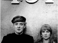 Oskar Werner and Julie Christie in Fran ois Truffaut's adaptation of Fahrenheit 451 (1966)