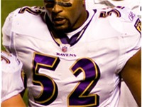 Lewis on the sidelines during a 2008 regular season game