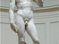 David, by Michelangelo. The Accademia Gallery, Florence.