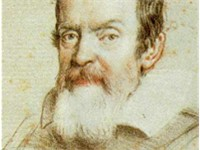 Galileo Galilei. Portrait in crayon by Leoni