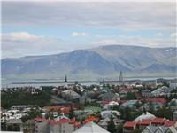Reykjavik seen from Perlan.