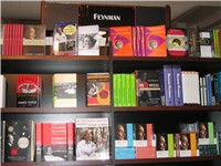 The Feynman section at the Caltech bookstore