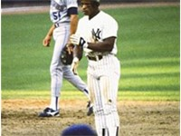 Henderson playing for the New York Yankees in 1988