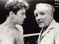 De Niro on the set of Raging Bull with Jake LaMotta