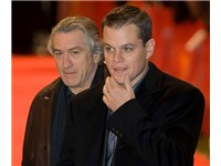 De Niro with Matt Damon in Berlin in February 2007 for the premiere of The Good Shepherd