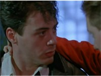 Downey and James Spader in Less Than Zero (1987)