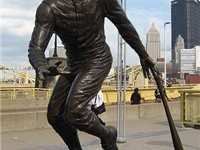 Statue of Clemente outside PNC Park in Pittsburgh.