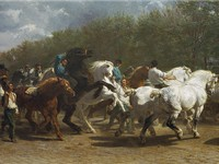 The Horse Fair, 1853-1855. The original hangs in the Metropolitan Museum of Art in New York.