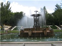 A fountain in the Park of Revolution