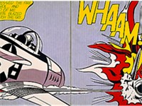 Whaam! (1963). On display at Tate Modern, London.