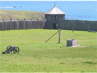 Fort Ross, an early-19th-century outpost of the Russian-American Company in Sonoma County, Californi