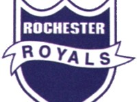 The logo of the Rochester Royals.