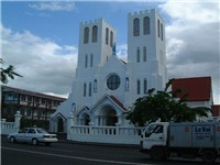 A Catholic church in Samoa.
