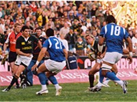 Samoa (blue) vs. South Africa in June 2007.
