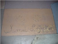 Jackson's handprints in front of The Great Movie Ride at Walt Disney World's Disney's Hollywood Stud
