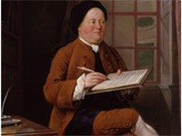 Portrait of Richardson from 1750s by Mason Chamberlin
