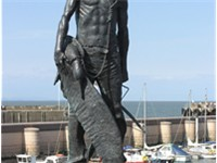 A statue of the Ancient Mariner at Watchet Harbour, Somerset, England, unveiled in September 2003 as