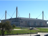 The Alamodome, home to the Spurs from 1993 to 2002.