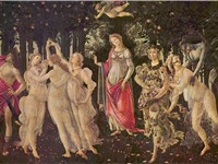 Primavera (c. 1482): icon of the springtime renewal of the Florentine Renaissance, also at the summe