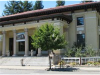 The Sonoma County Museum on 7th St., Downtown Santa Rosa. Completed in 1910, it was originally the P