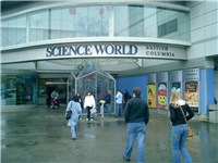 Visitors entering Science World
