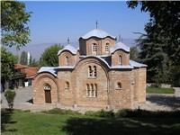12th century Byzantine church of St. Panteleimon in Nerezi