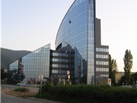 A new office building on Bulgaria Blvd., an example of one of the many new buildings that spurred in