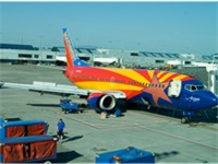 Southwest's tribute to Arizona undergoes maintenance at Portland International Airport